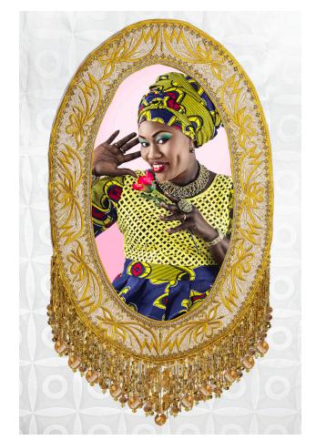 Joana Choumali, Adorn, mixed media, 2015. Image courtesy of AAF