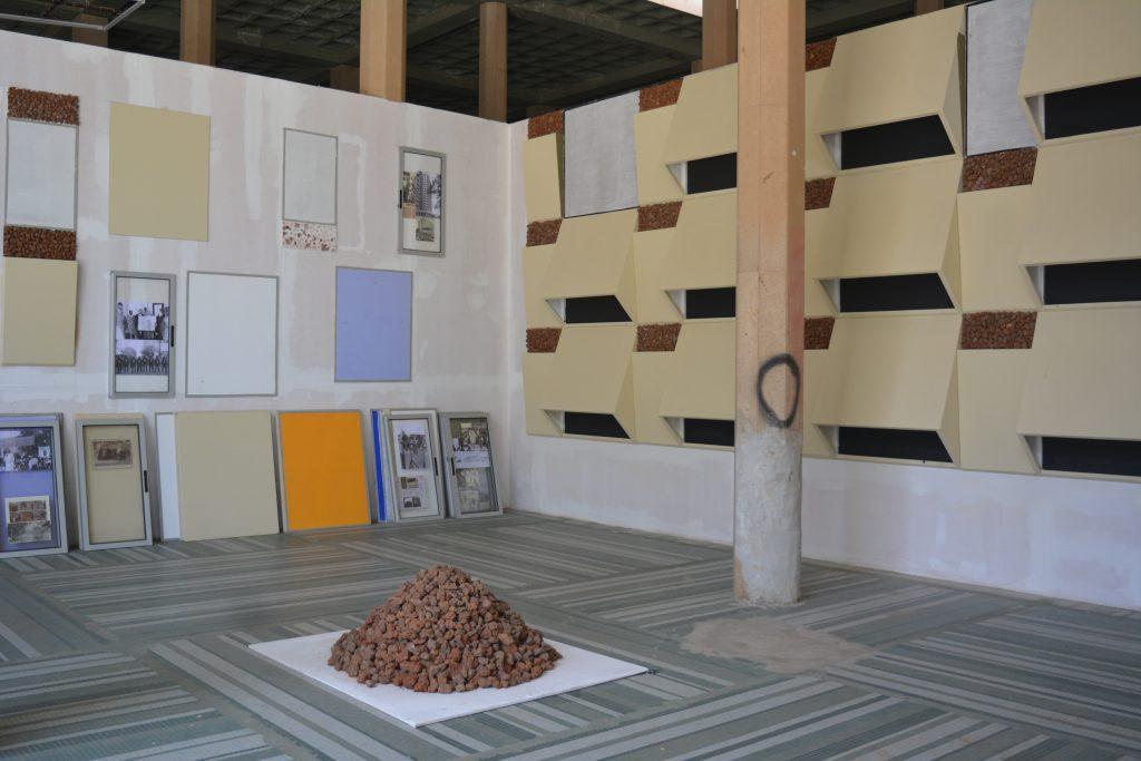 "Cheikh N'Diaye (Senegal), Brise Soleil des Indépendances, xxx. Installation view, Dak'Art Biennale 2018 ""The Red Hour/A New Humanity"" curated by Simon Njami. Photo credit: The Sole Adventurer."