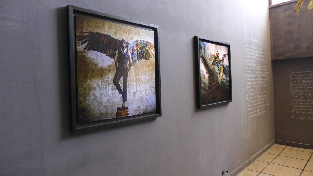 "Laeila Adjovi (Benin-France), Malaïka Dotou Sankofa #4 #5, photography series. Installation view, Dak'Art Biennale 2018 ""The Red Hour/A New Humanity"" curated by Simon Njami. Photo credit: The Sole Adventurer."