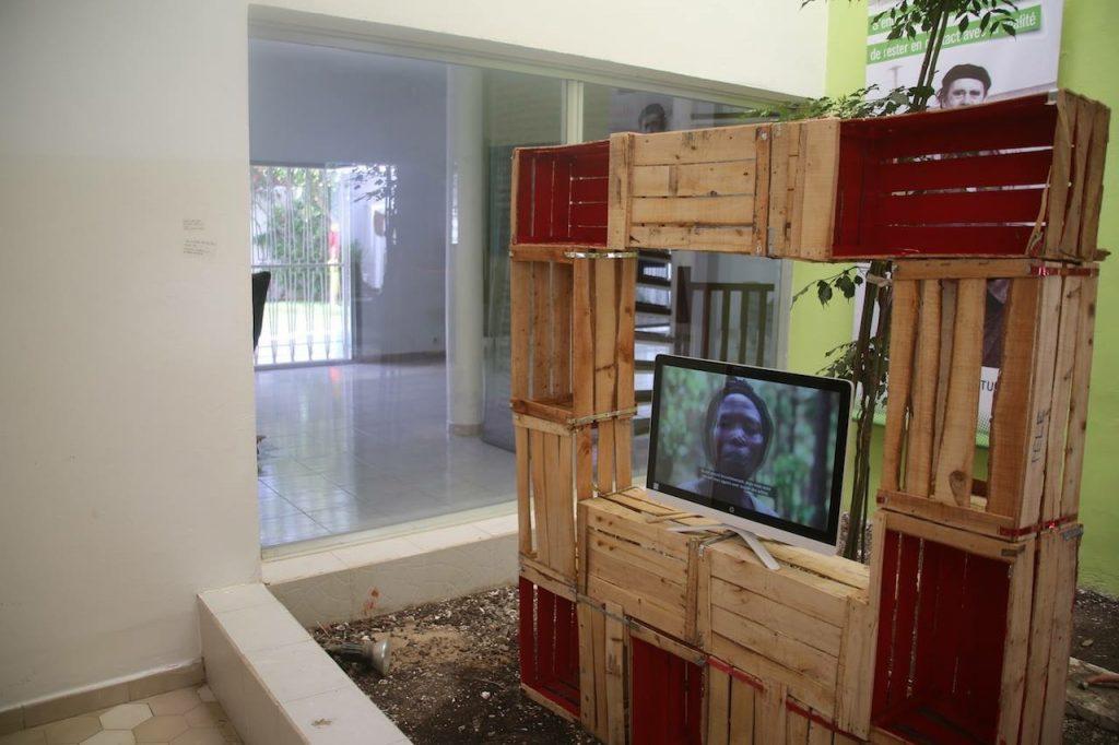 'I Be Lady O' installation at the Heinrich Böll Foundation in Dakar, 2018. Courtesy Fatou Kandé Senghor