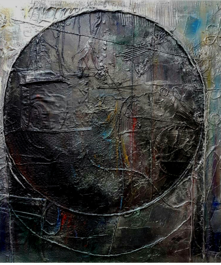 Ankeli Christopher, The Salvager, mixed media, 2018. Salvage Therapy (2018), Revolving Art Incubator.