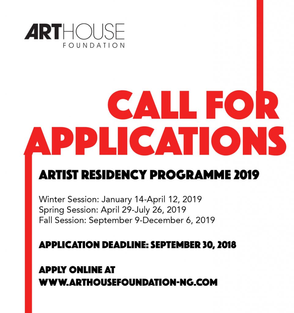 Artist-in-Residence 2019 Open Call by Arthouse Foundation