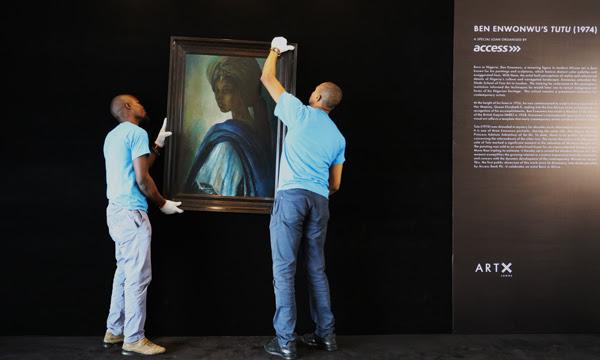 Installing the Iconic Ben Enwonwu's Tutu, ART X Lagos | Via ART X Lagos online