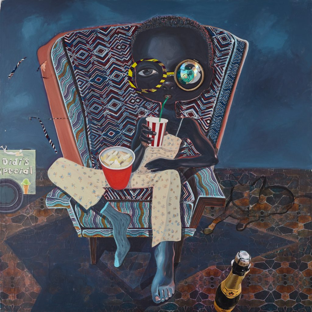 Ndidi Emefiele, An Audience, 2018, Courtesy of Rosenfeld Porcini gallery