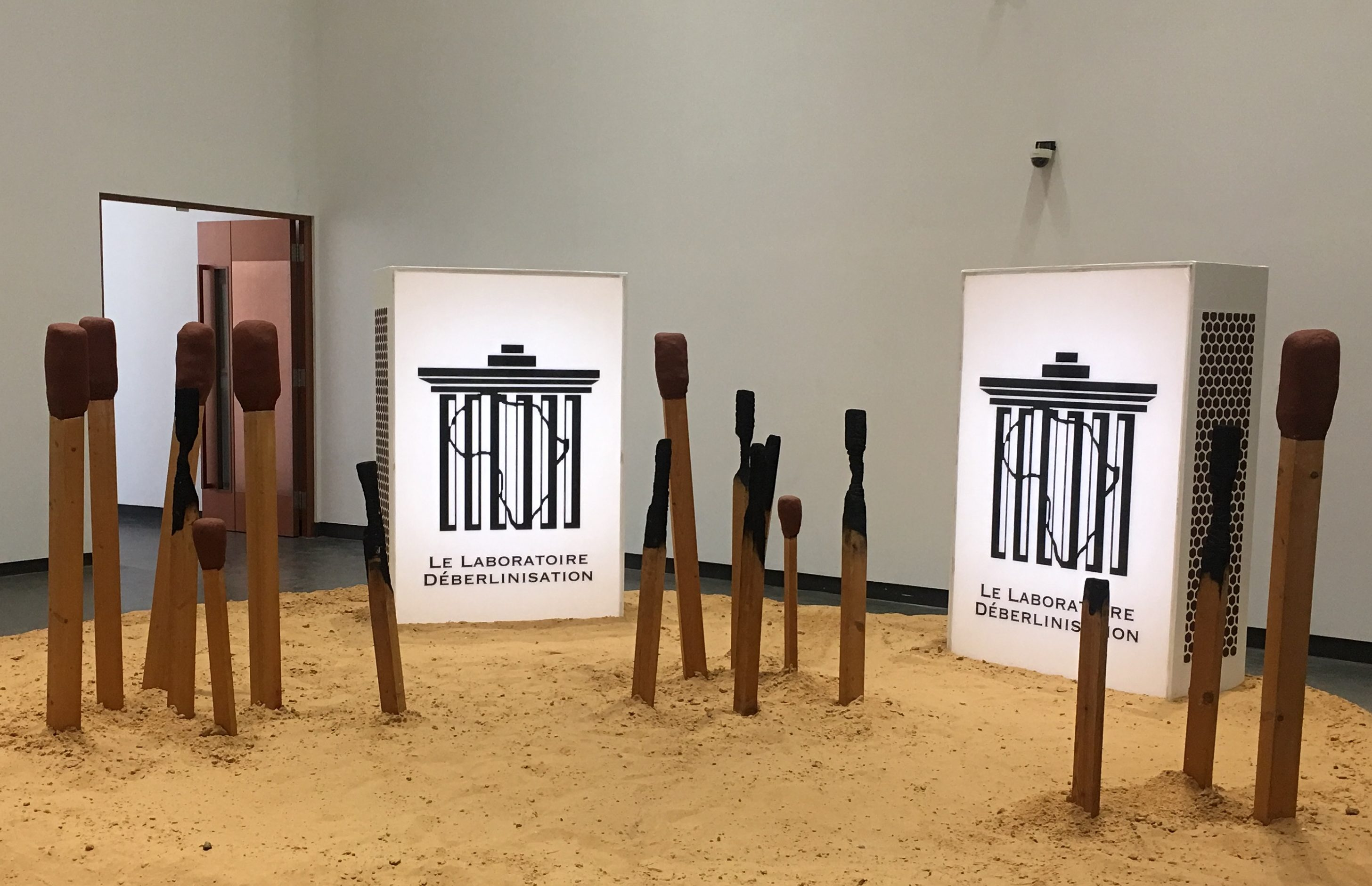 """The Deberlinisation Lab"" byMansour Ciss Kanakassy,Museum of Black Civilisations, Dakar. (Photo courtesy of the author, Mamadou Diallo)"