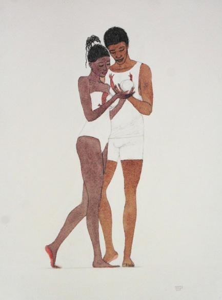 """Kimathi Donkor, """"Return From Egypt"""", 2018. Via artsy.net"""
