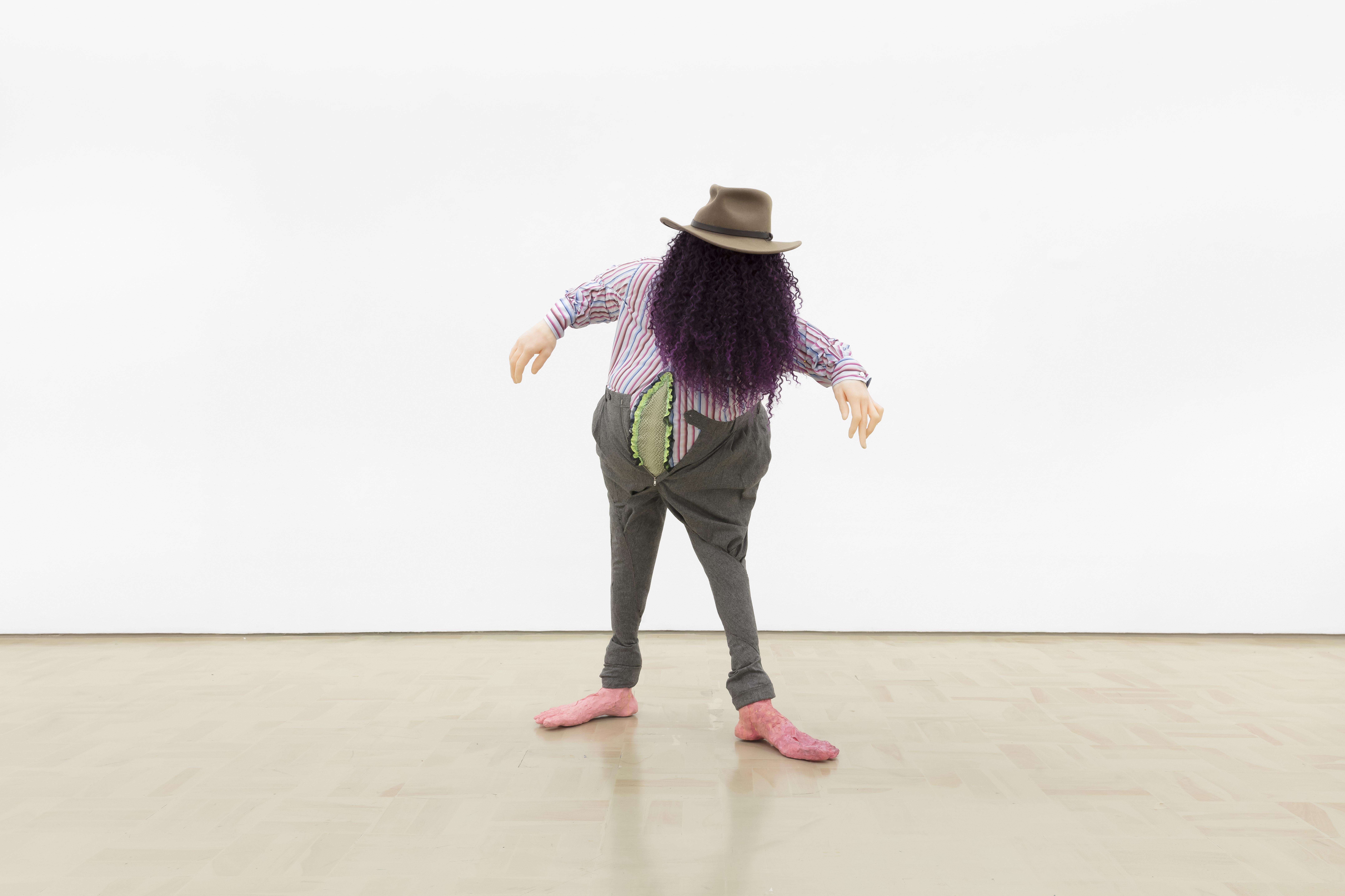 "Simphiwe Nduzibe, ""Bhazuka: Michael Jackson of Mine Moon"", 2018. Courtesy, Stevenson Gallery."