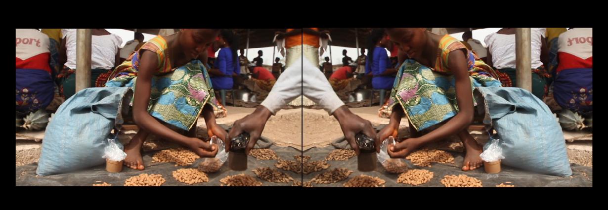 "Ayọ̀ Akínwándé, ""Nkwagwu I"", ""Bad Market Series"", 2018, Video installation, Courtesy of the artist and the Gallow Gate"