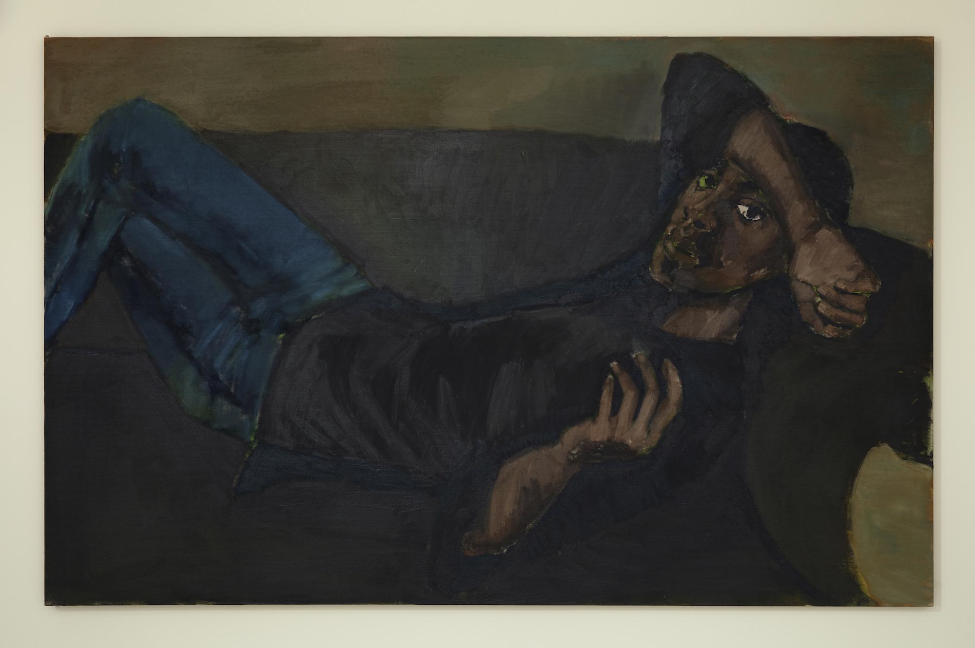 Lynette Yiadom-Boakye, Closer to a Comfort, 2018. © Lynette Yiadom-Boakye. Courtesy of the artist, Jack Shainman Gallery, New York and Corvi-Mora, London.