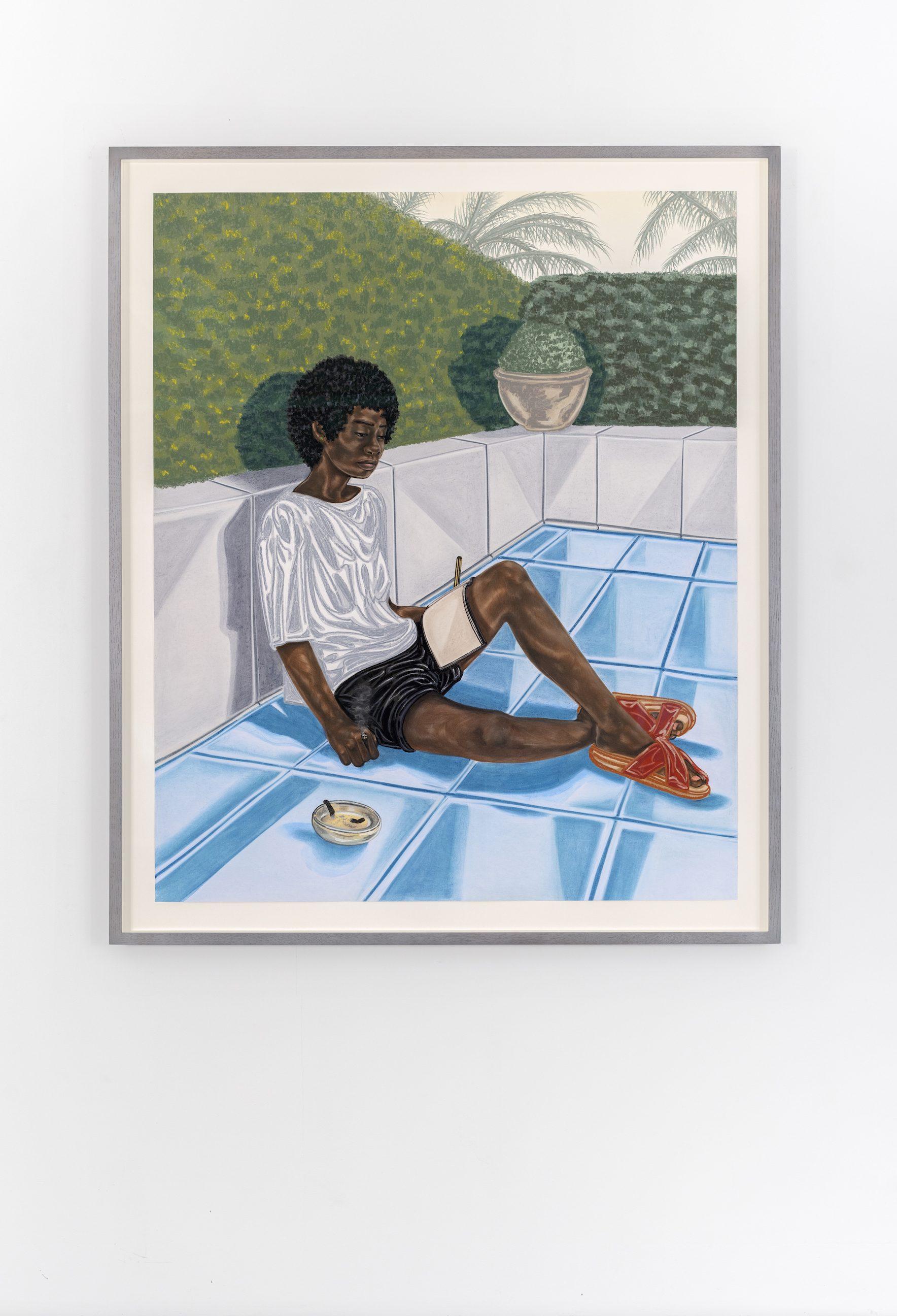 Toyin Ojih Odutola, Hide Out, 2018. © Toyin Ojih Odutola. Courtesy of the artist and Jack Shainman Gallery, New York.