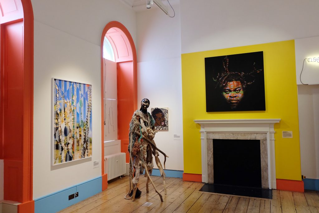 "Installation view, ""Get Up, Stand Up Now"", at Somerset House, London. Photo credit: Kojo Abudu"