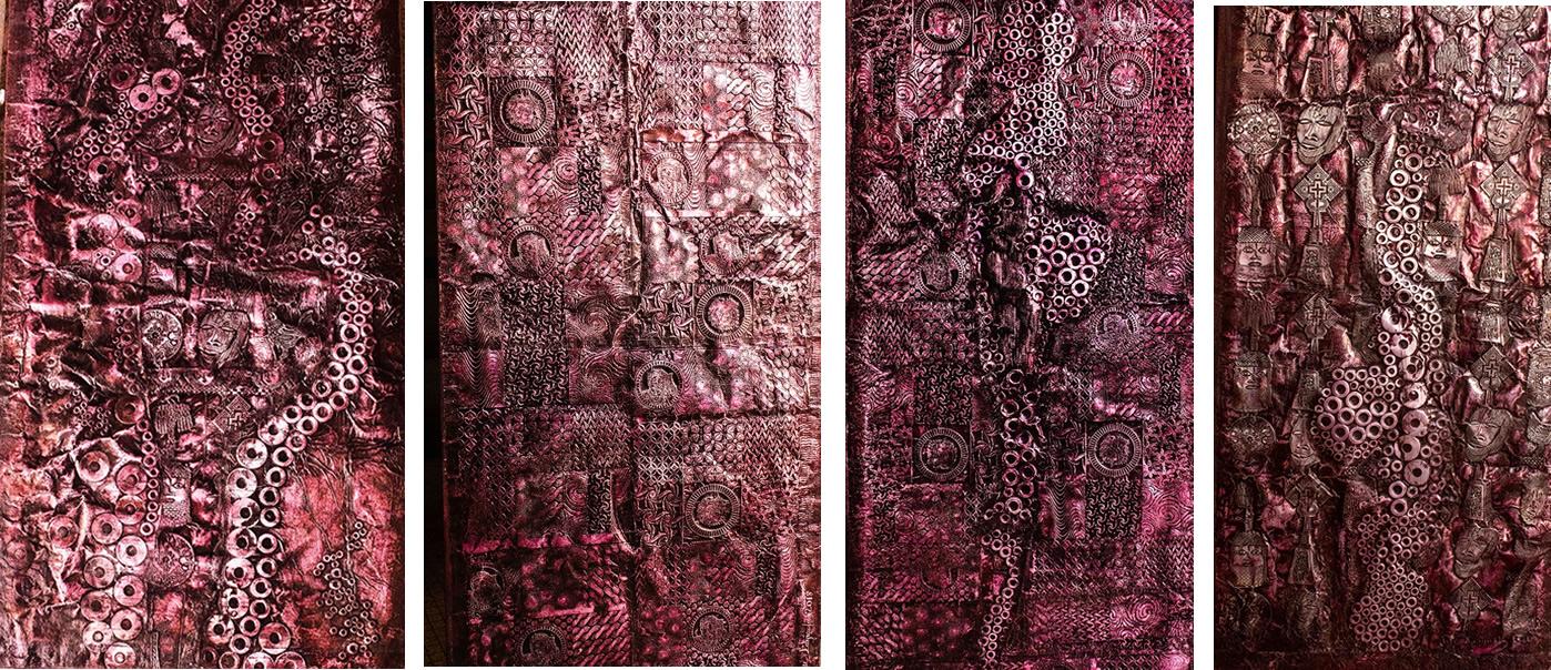 Peju Layiwola, Dialoguing Sarahs (2018), Aluminium Foil. Courtesy Rhodes University/Peju Layiwola.