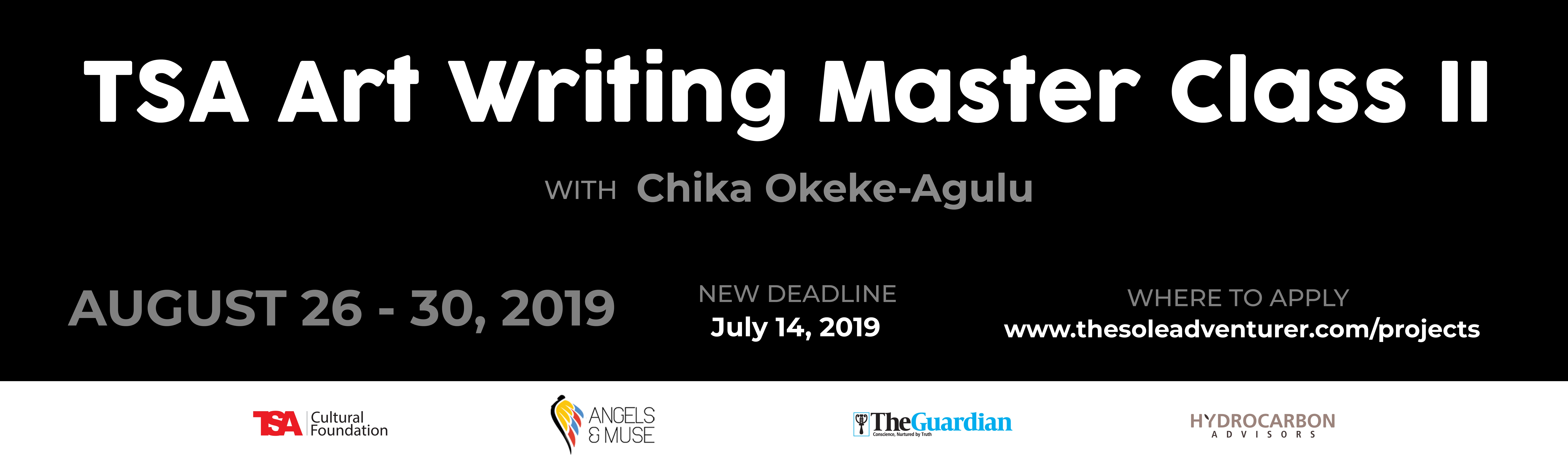 TSA Art Writing master class II with Prof. Chika Okeke Agulu