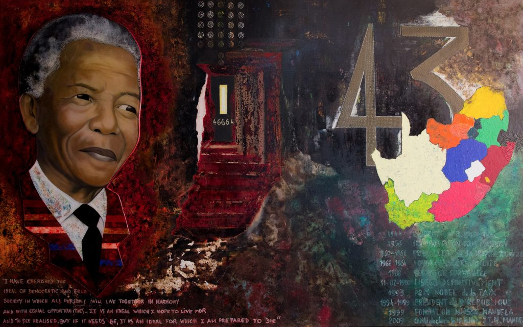 Le Berger de L'ile de Ngor, Homage to Nelson Mandela (2016), Mixed Media. Courtesy, the artist.