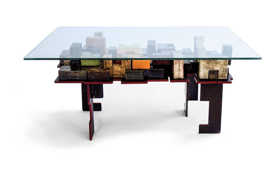 A fusion of ceramics, wood and glass from the Furniture Collection, via www.imisoceramics.co.za