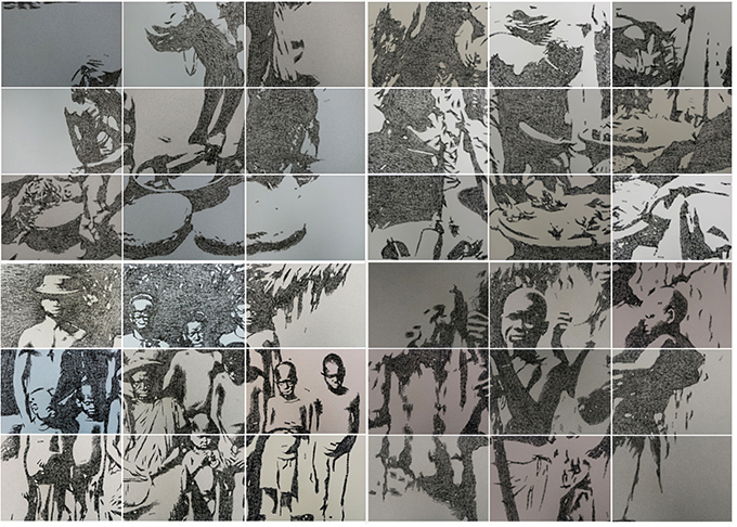 Kelani Abass, 'Colonial Indexicality - Stamping History' series, via re-entanglements.net