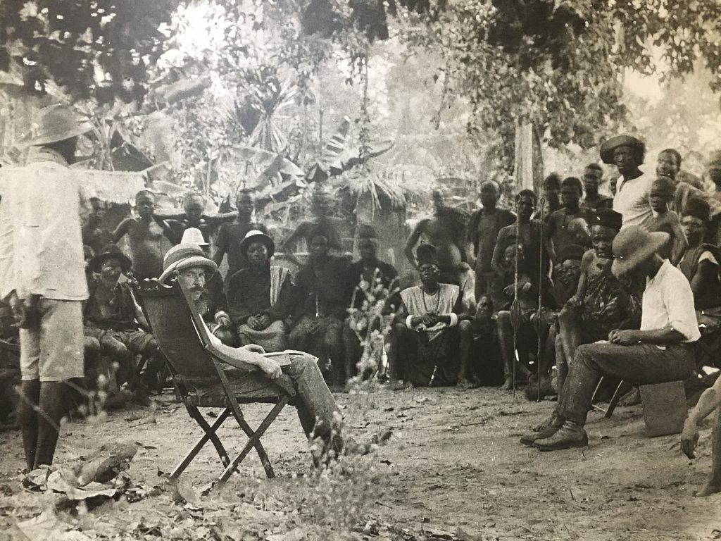 Government Anthropologist at a Meeting of Chiefs to Discuss a Land Dispute, Neni, Present-day Anambra.