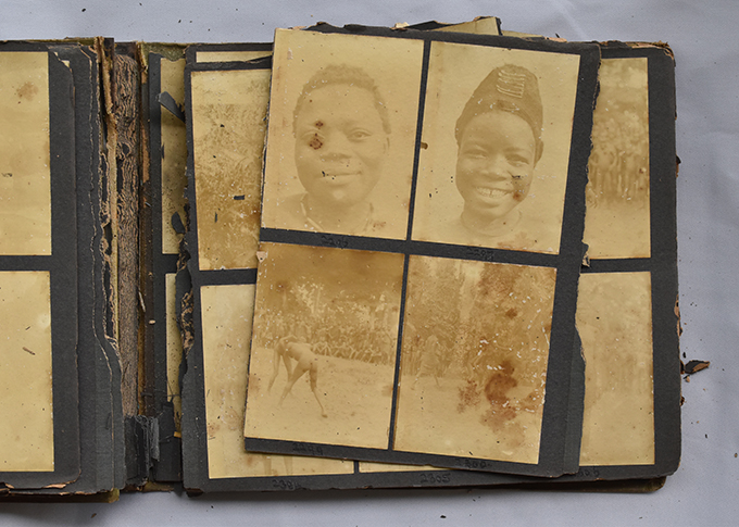 One of Northcote Thomas' album in poor condition at the National Museum, Lagos., via re-entanglements.net