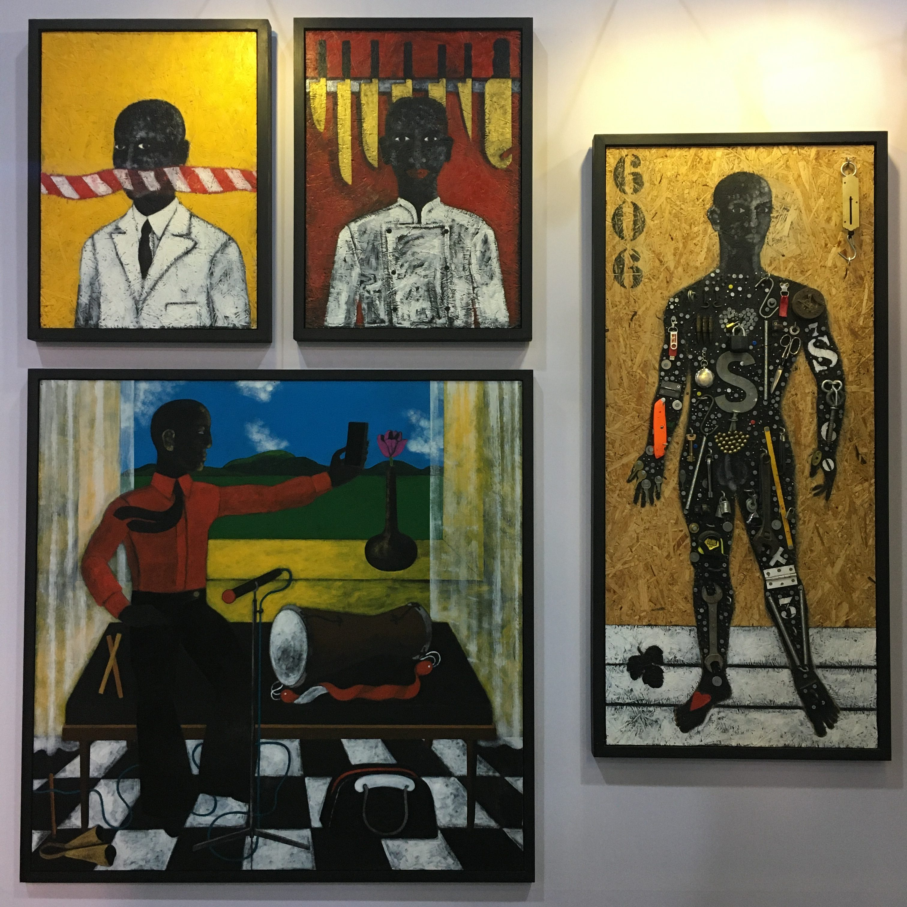 Abe Odedina, Installation view from Ed Cross Fine Art at ART X Lagos, 2019.