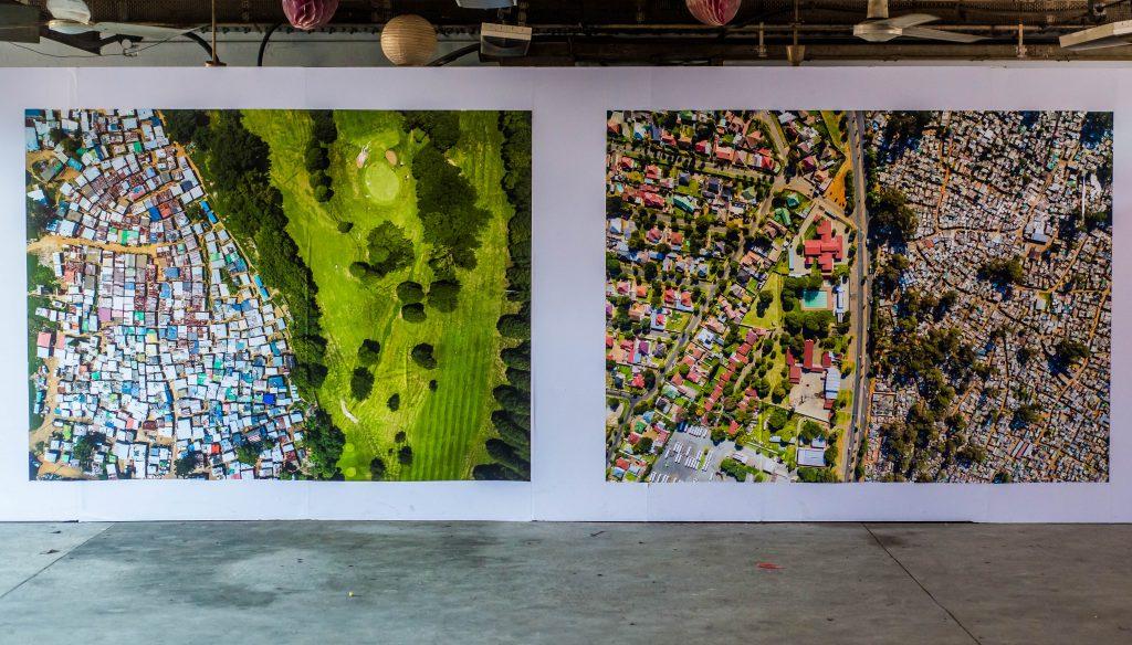 "Installation view, Johnny Miller, ""Unequal Scenes"", LagosPhoto 2019.Photo credit: The Sole Adventurer/Olupitan Olusanya"