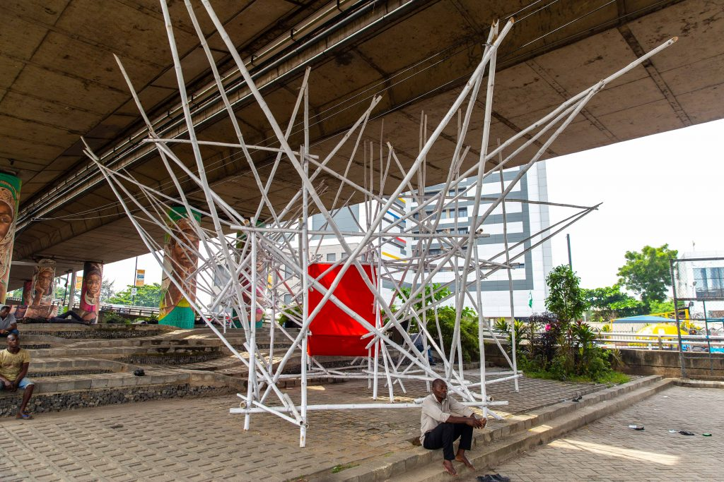 "Gaellen Pinnock, ""Something to Declare"", Installation, LagosPhoto 2019.Photo credit: Benson Ibeabuchi"