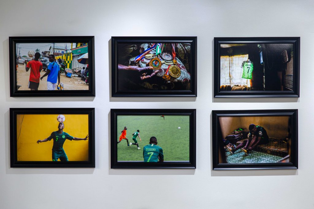 "Installation view, ""Women through the Lens"", LagosPhoto 2019.Photo credit: Benson Ibeabuchi"