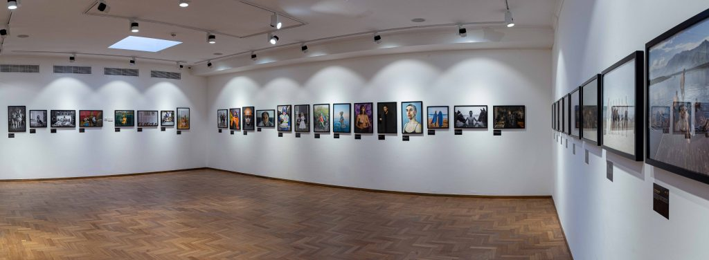 "Installation view, ""Portraits of Humanity"", LagosPhoto 2019.Photo credit: Benson Ibeabuchi"