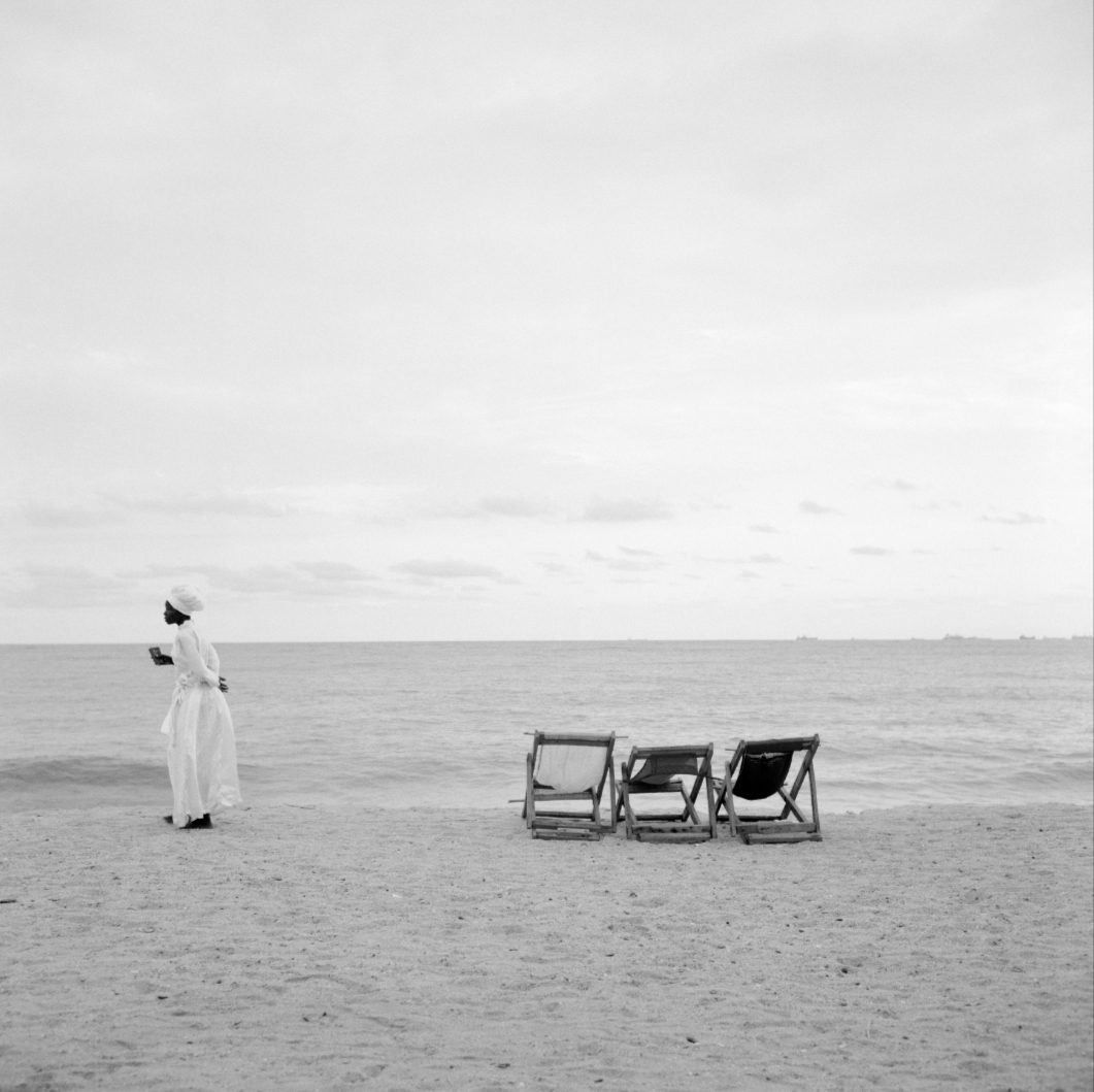 "Akinbode Akinbiyi, Bar Beach, Victoria Island, Lagos, 2006. From the series ""Sea Never Dry"". Copyright Akinbode Akinbiyi. Courtesy: Gropius Bau"