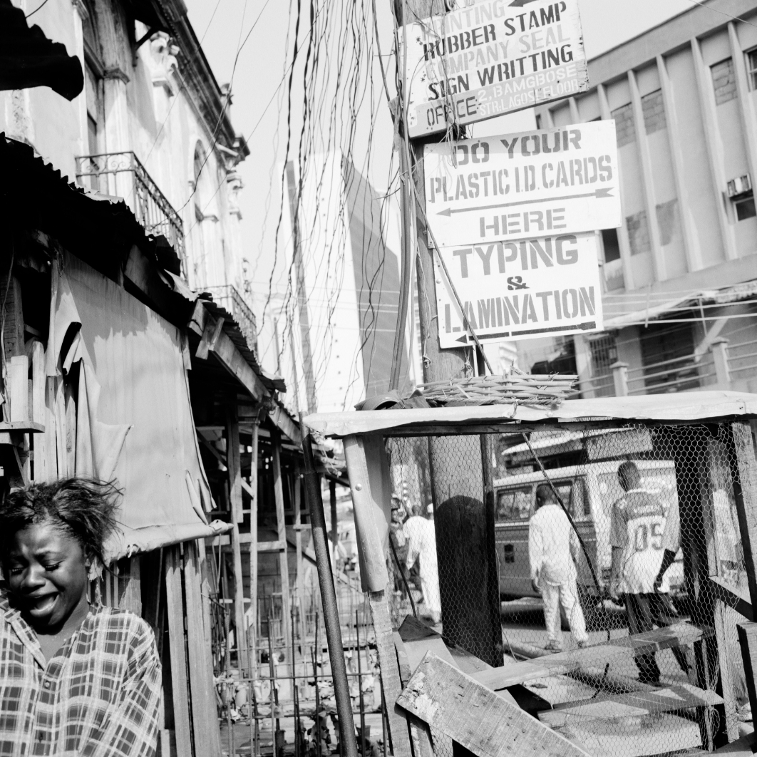 "Akinbode Akinbiyi, Lagos Island, Lagos, 2004. From the series ""Lagos: All Roads"". Copyright Akinbode Akinbiyi. Courtesy: Gropius Bau"