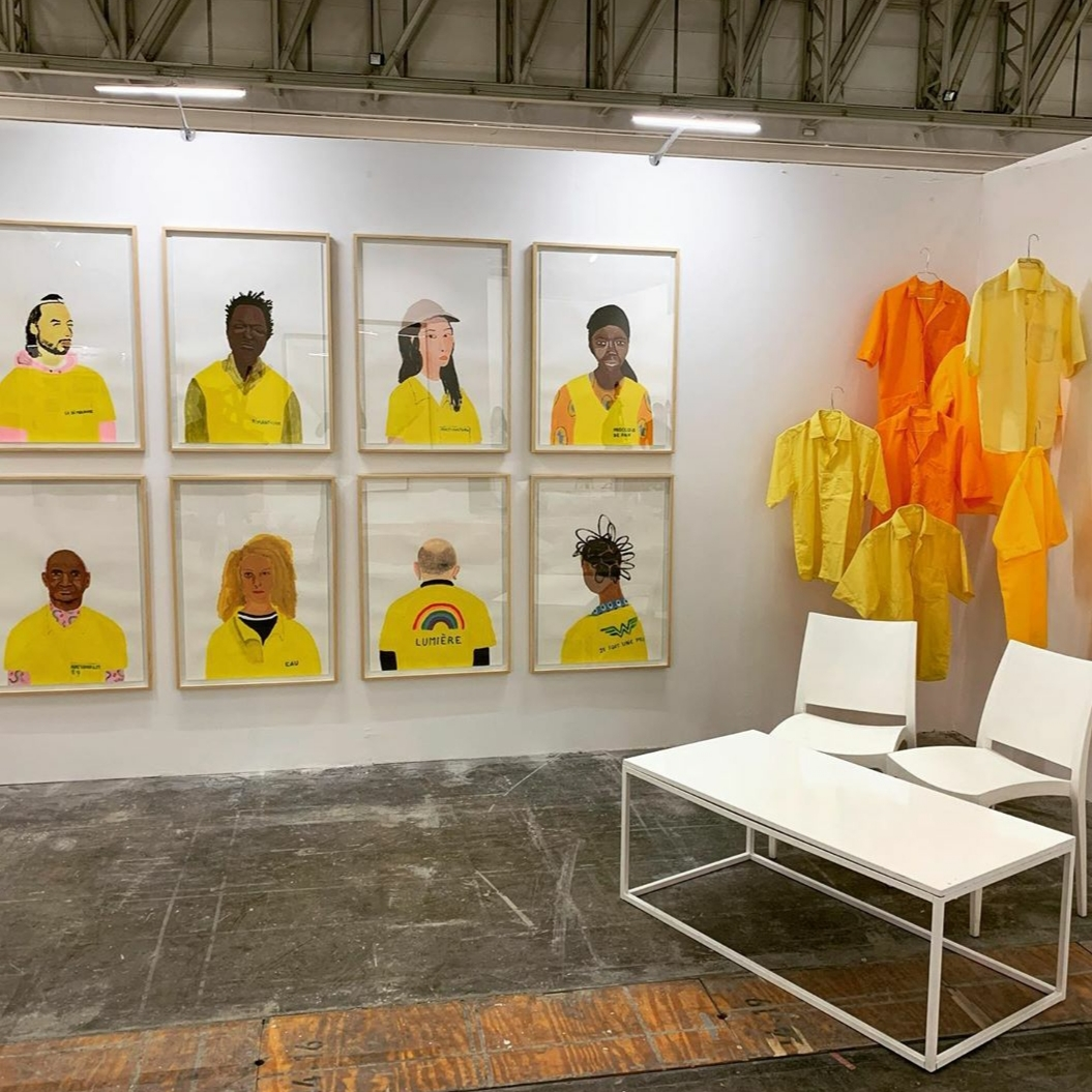 "Installation View: Gregory Olympio, ""Tomorrows/Today"", Investec Cape Town Art Fair 2020, via Septieme Gallery"