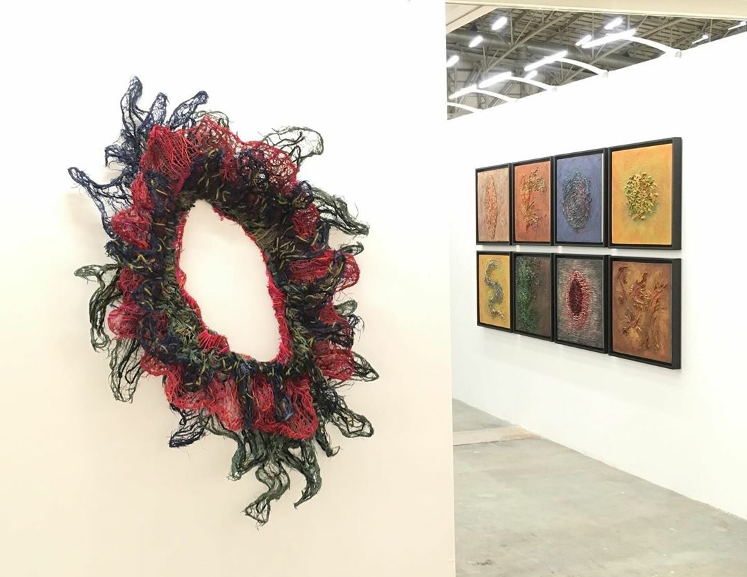 "Installation View: Nnenna Okore, ""Tomorrows/Today"", Investec Cape Town Art Fair 2020, via Sakhile&Me"