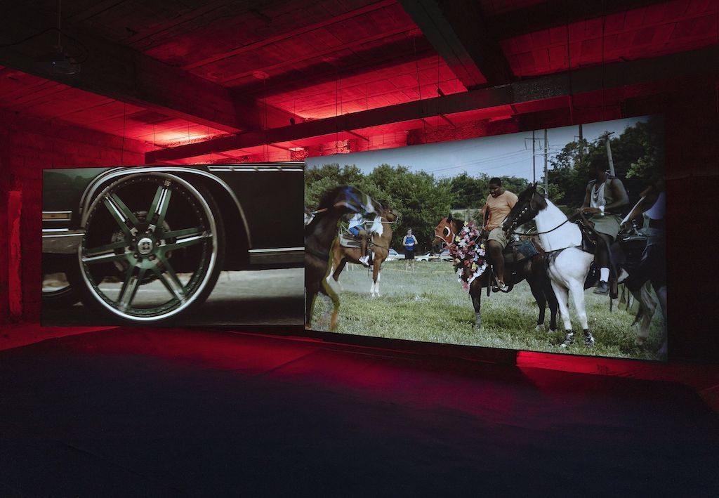 Horse Day (video still) by Mohamed Bourouissa at DADA Marrakech during 1-54 Art Fair 2020. Courtesy of DADA Marrakech
