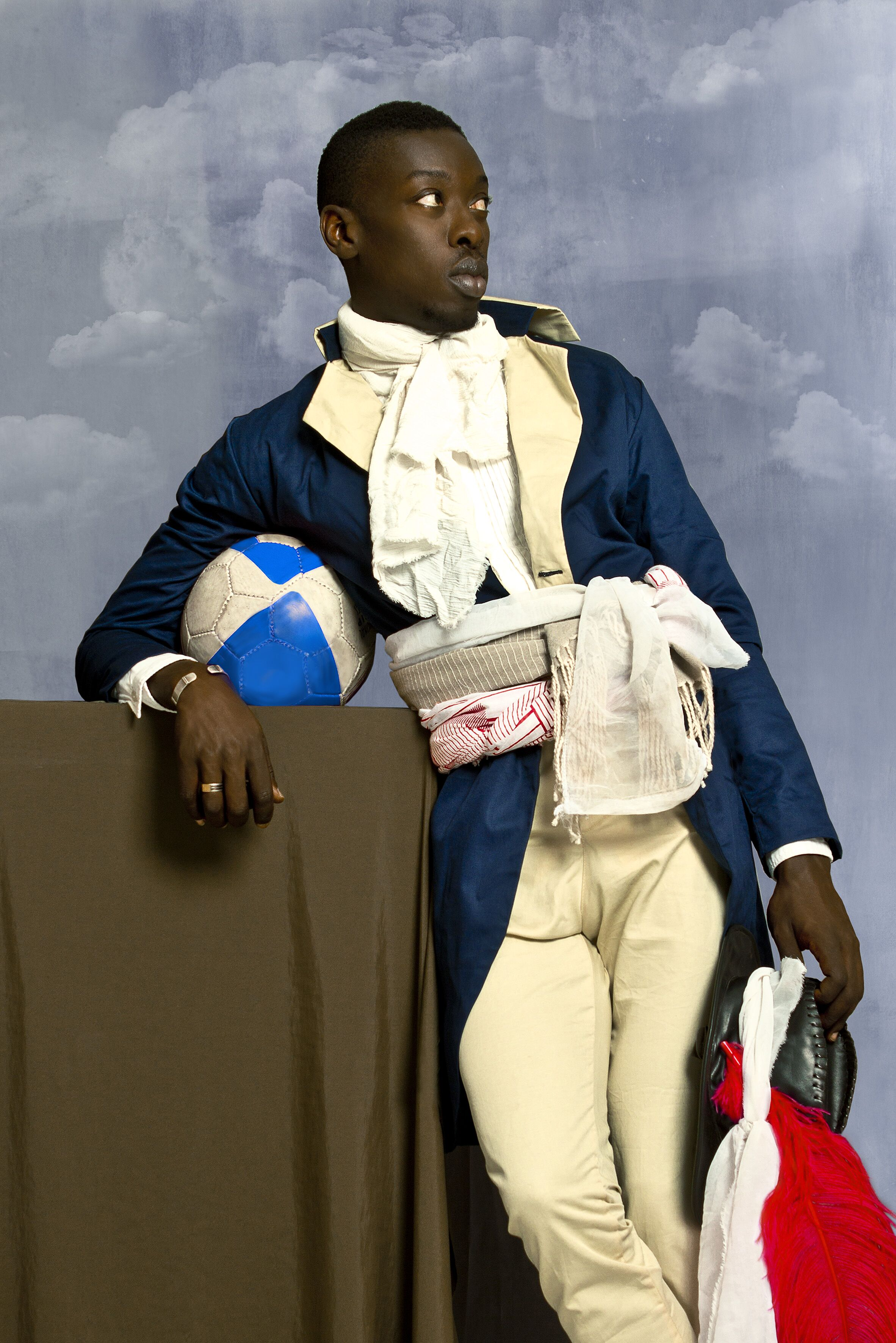 """Omar Victor Diop, """"Jean-Baptiste Belley, 2014. Copyright Omar Victor Diop, courtesy of Moody Center for the Arts."""