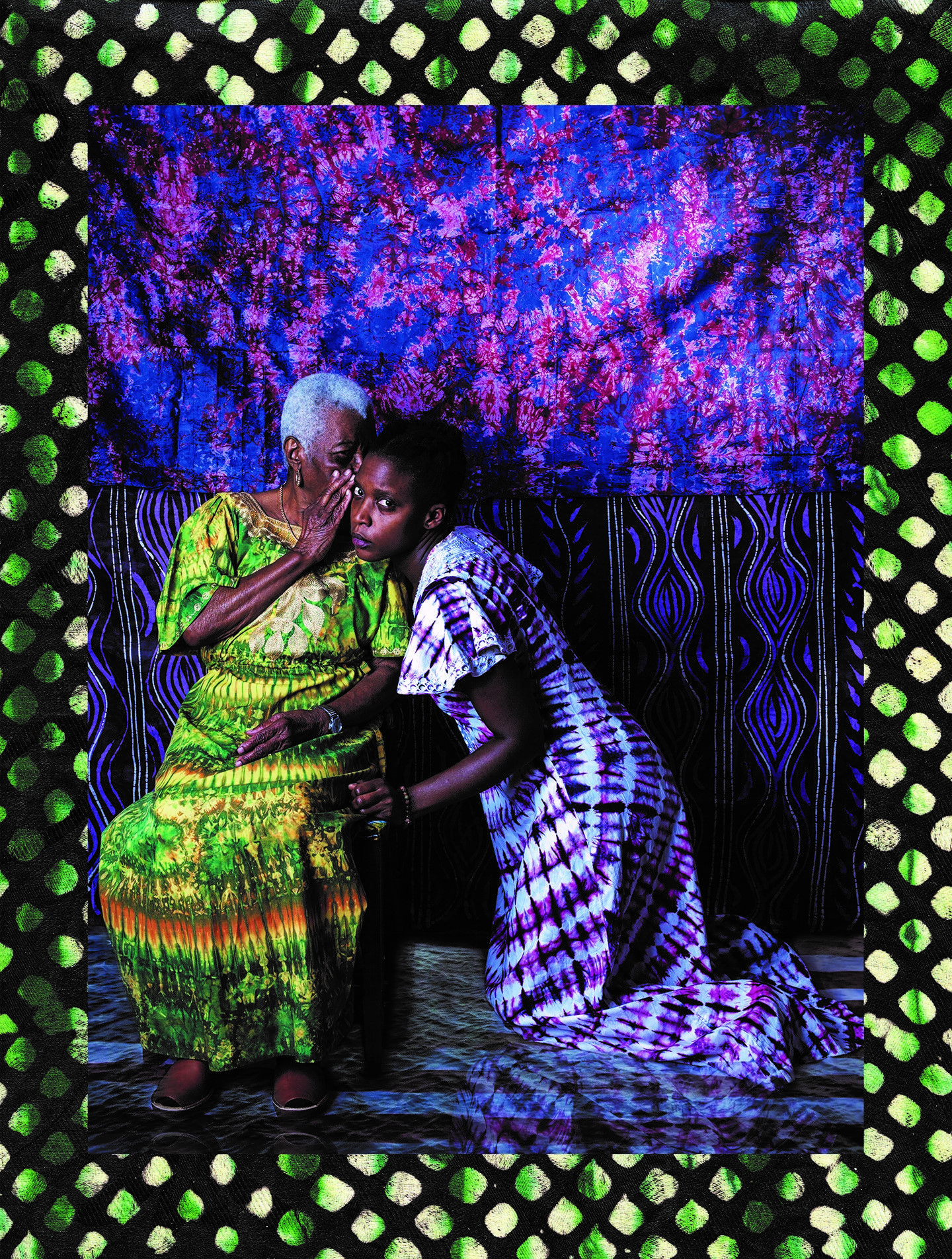 """Adama Delphine Fawundu, """"Passageways #1, Secrets, Traditions, Spoken and Unspoken Truths or Not"""", 2017. Courtesy of the Moody Center for the Arts"""
