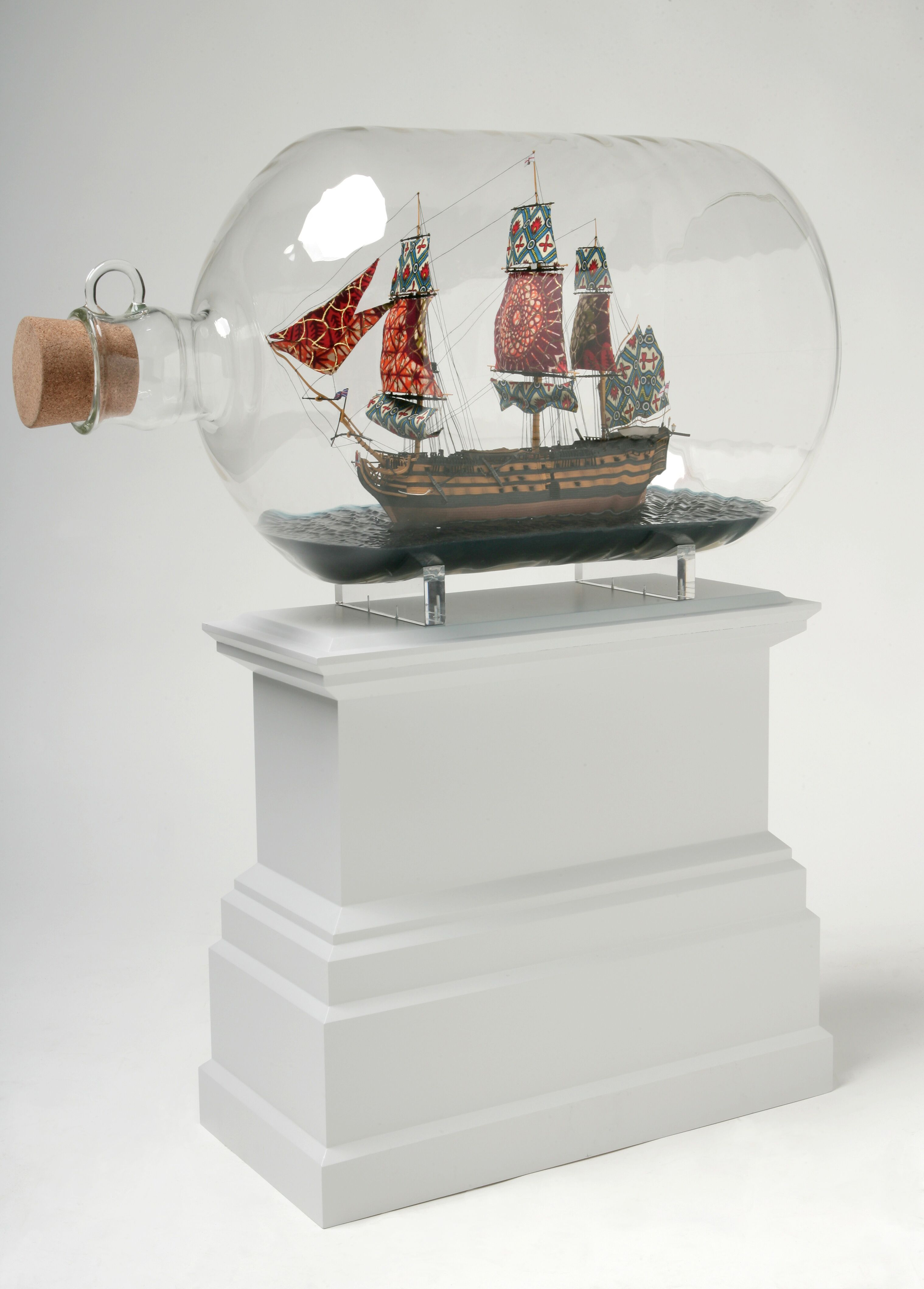 "Yinka Shonibare, ""Nelson's Ship in a Bottle"", 2007. Copyright Yinka Shonibare, courtesy of Moody Art Center."