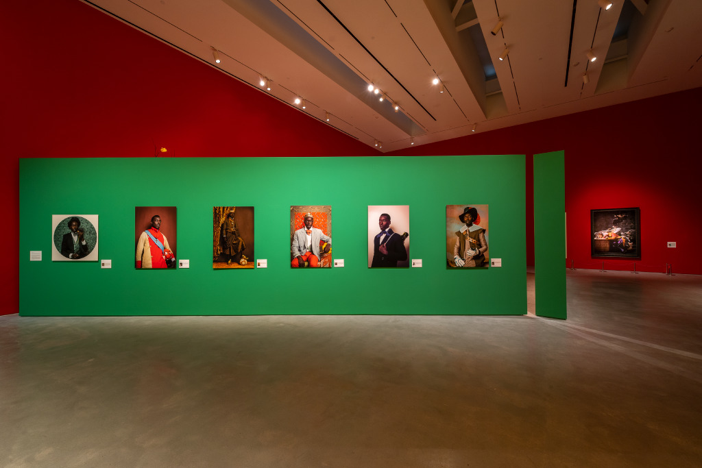"""Installation View: """"Radical Revisionists"""", 2020. Photo by Nash Baker, courtesy of Moody Center for the Arts"""