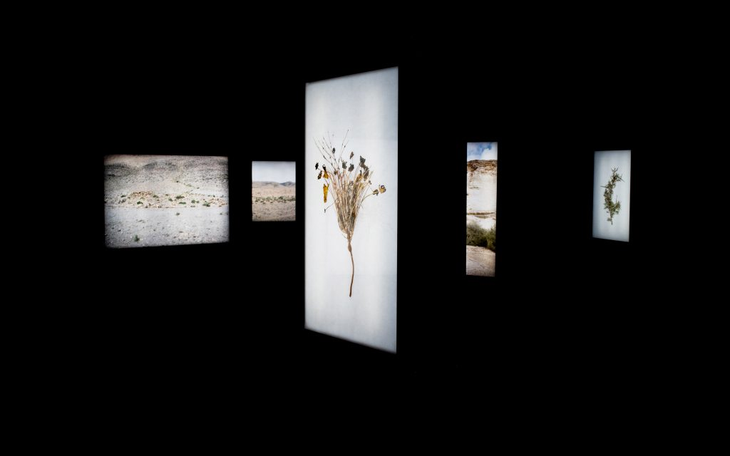 Abdessamad El Montassir,Al Amakine, une cartographie des vies Invisibles. Installation of photographs presented on lightboxes, immersive sound piece, 2016-2017. Courtesy the artist and Le Cube - Independent Art Room