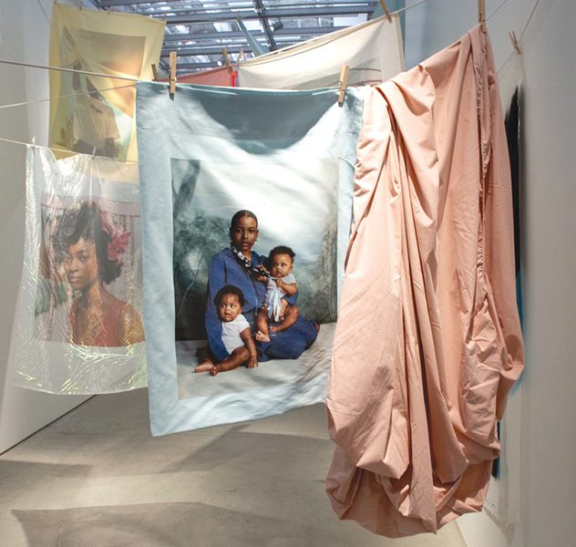 Tyler Mitchell's installation Laundry Line, 2020. Source: Art in America