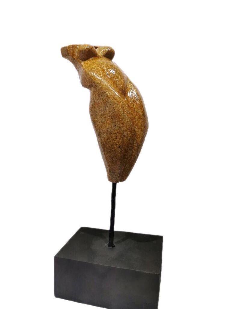 "Rotimi Oligbinde, ""Expectation"", 2019, Soap Stone. Courtesy of Rele Gallery"