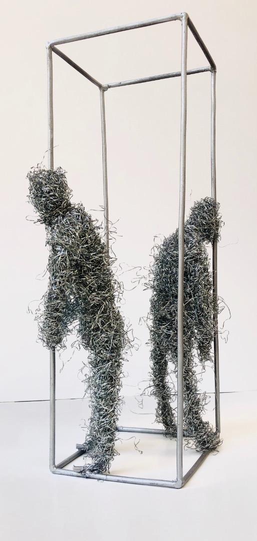 """Ayanfe Olarinde, """"Stuck in Limbo"""", 2020. Courtesy of Rele Gallery"""