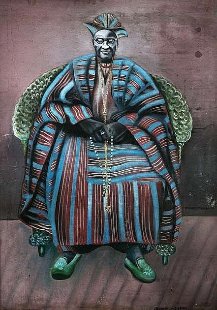 Akinola Lasekan, Portrait of a Man, 1956, oil on board. Image courtesy of Arthouse Contemporary
