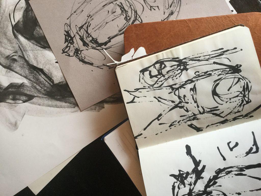 Beatrice Wanjiku - studio sketch images.