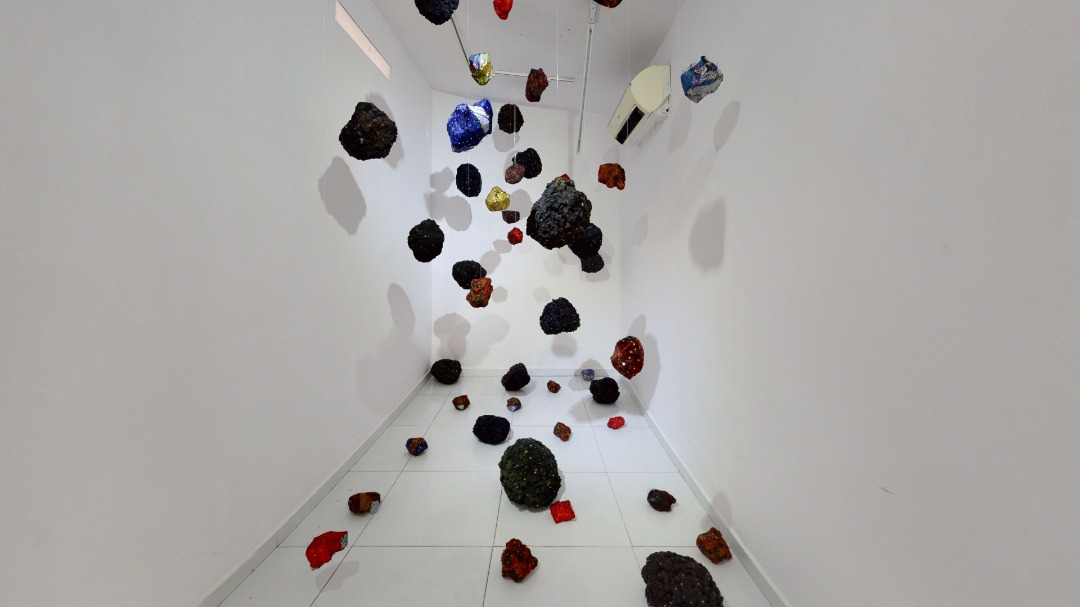 """Installation View: Emmanuel Adeyemi, """"Sculpting the City"""", 2020. Courtesy of Rele Gallery"""