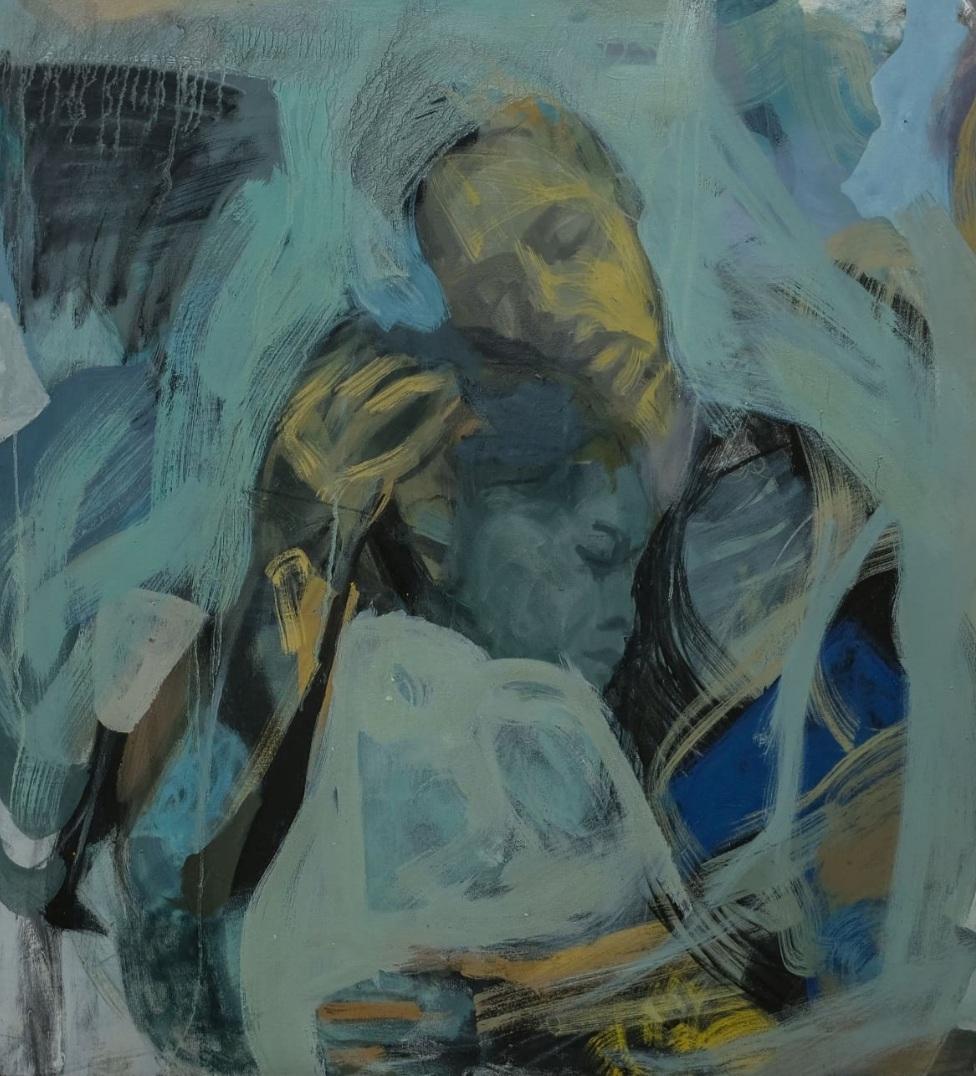Tizta Berhanu, 'Consolation', 2018, via addisfineart.com