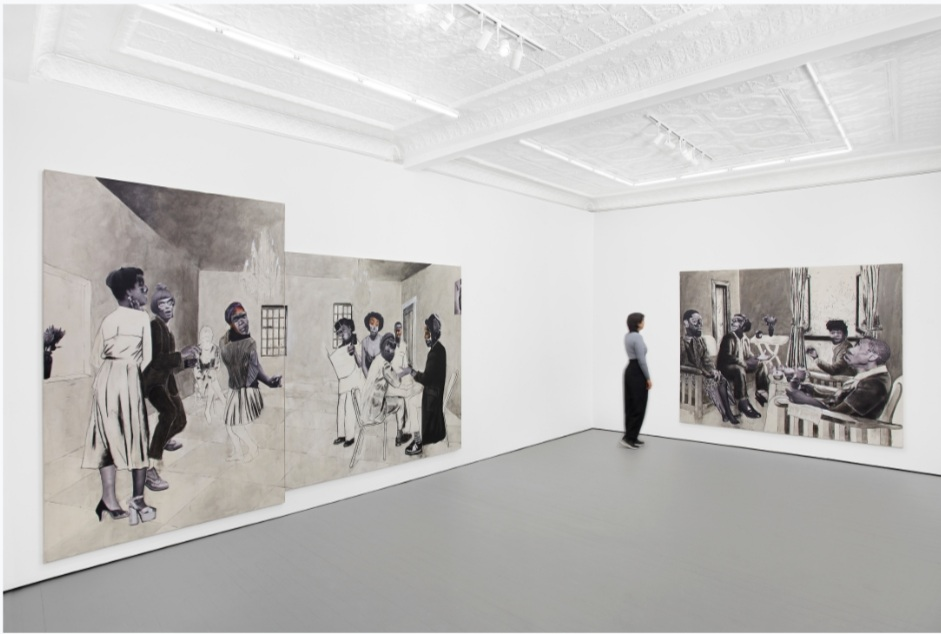Installation View: Neo Matloga, 'Back of the Moon', 2020. Courtesy of STEVENSON