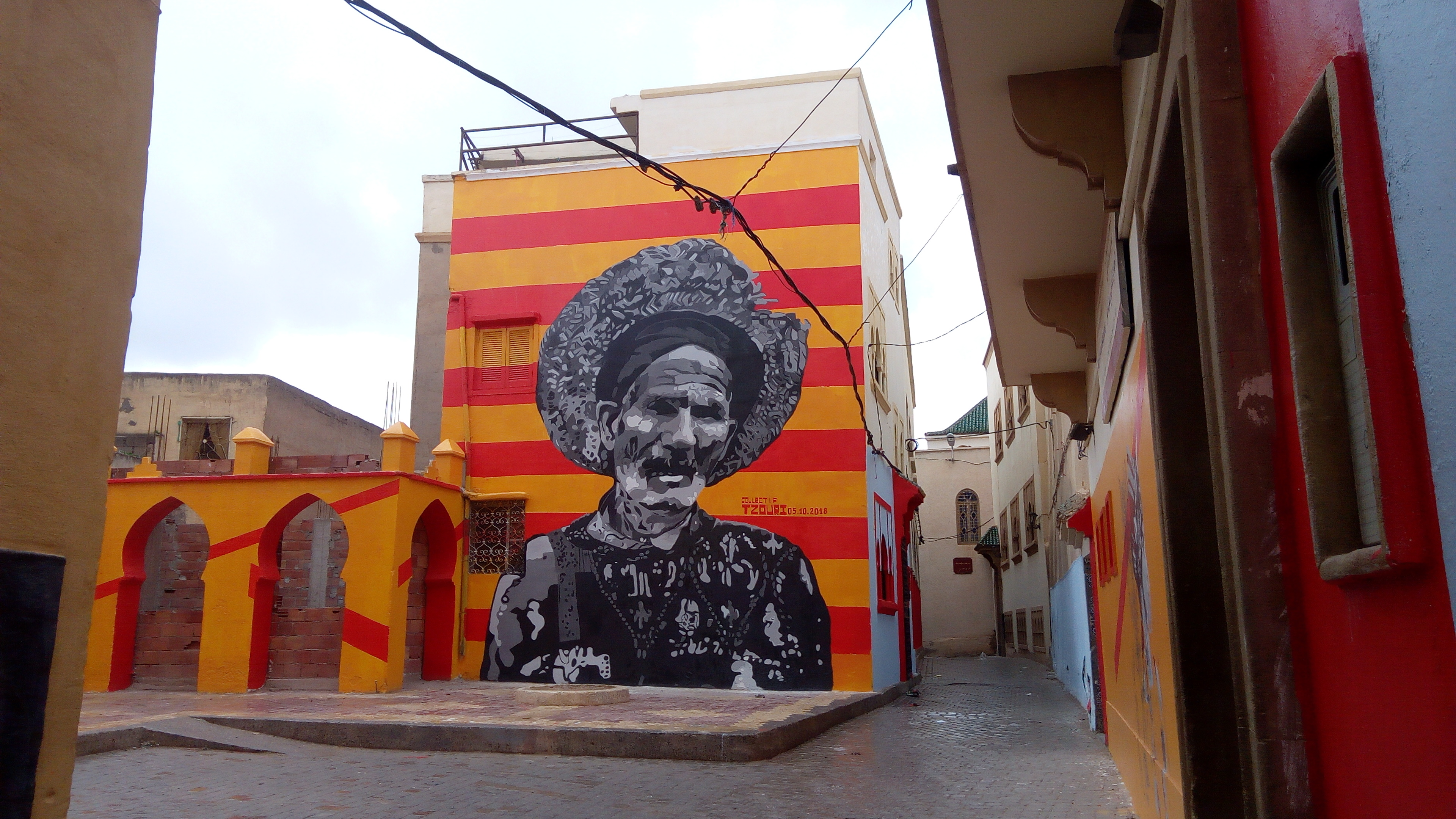 Collectif Tzouri, Mural in Oujda Old City, Morocco 2018. Photo by Chourouq Nasri