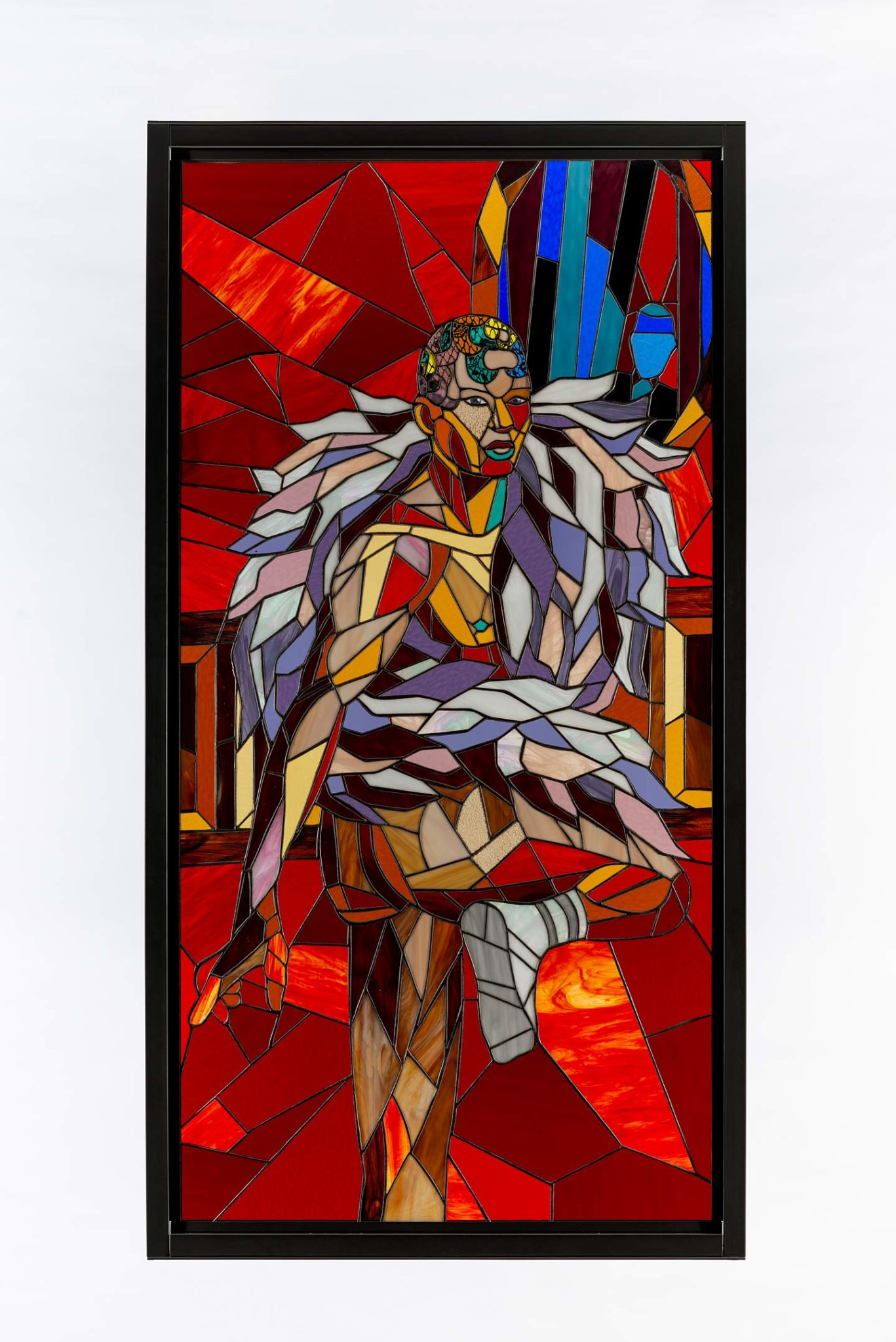 Athi-Patra Ruga, 'Contemplation', 2020, Stained glass, lead, and powder-coated steel via whaiftheworld.com