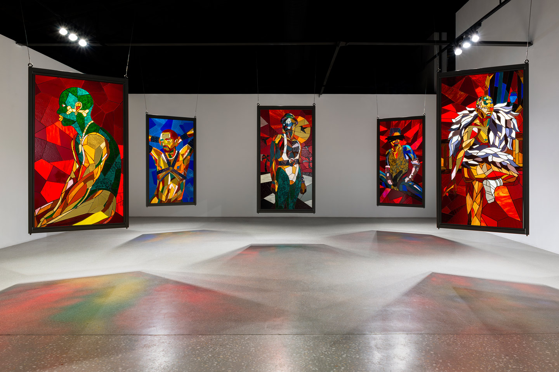 Installation View: Athi-Patra Ruga, 'Interior/Exterior/Dramatis Personae' , 2020 at WHATIFTHEWORLD via whaiftheworld.com