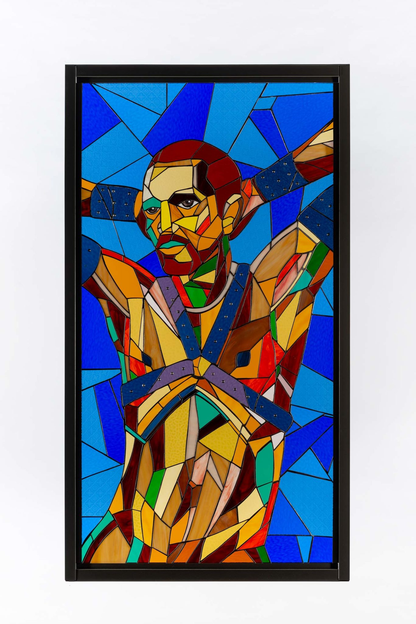 Athi-Patra Ruga, 'Swazi Youth After', 2020, Stained glass, lead, and powder-coated steel via whaiftheworld.com