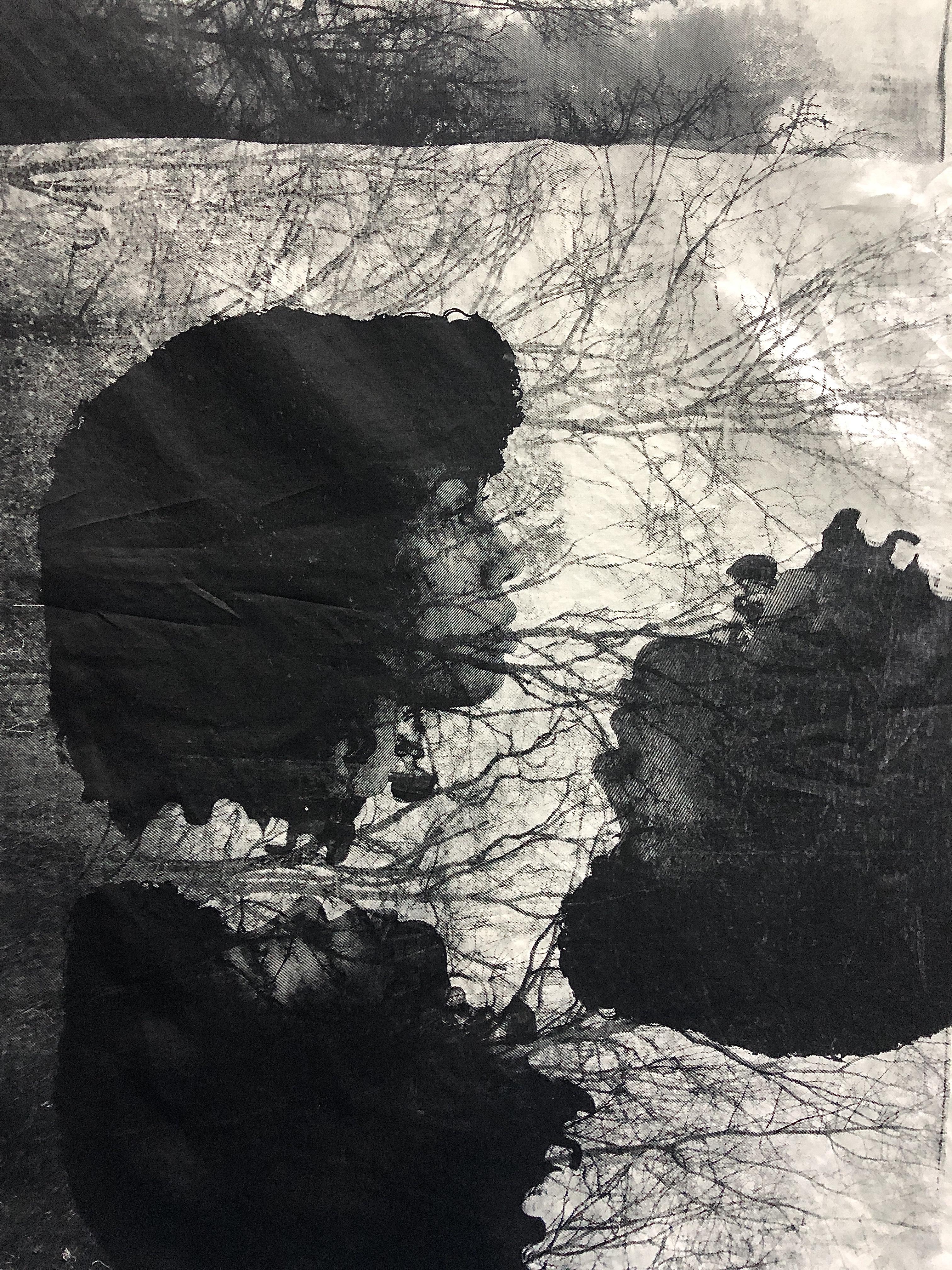 Work in progress, studio view Black Rock Senegal, 2020. Image courtesy of the artist & Mariane Ibrahim Gallery